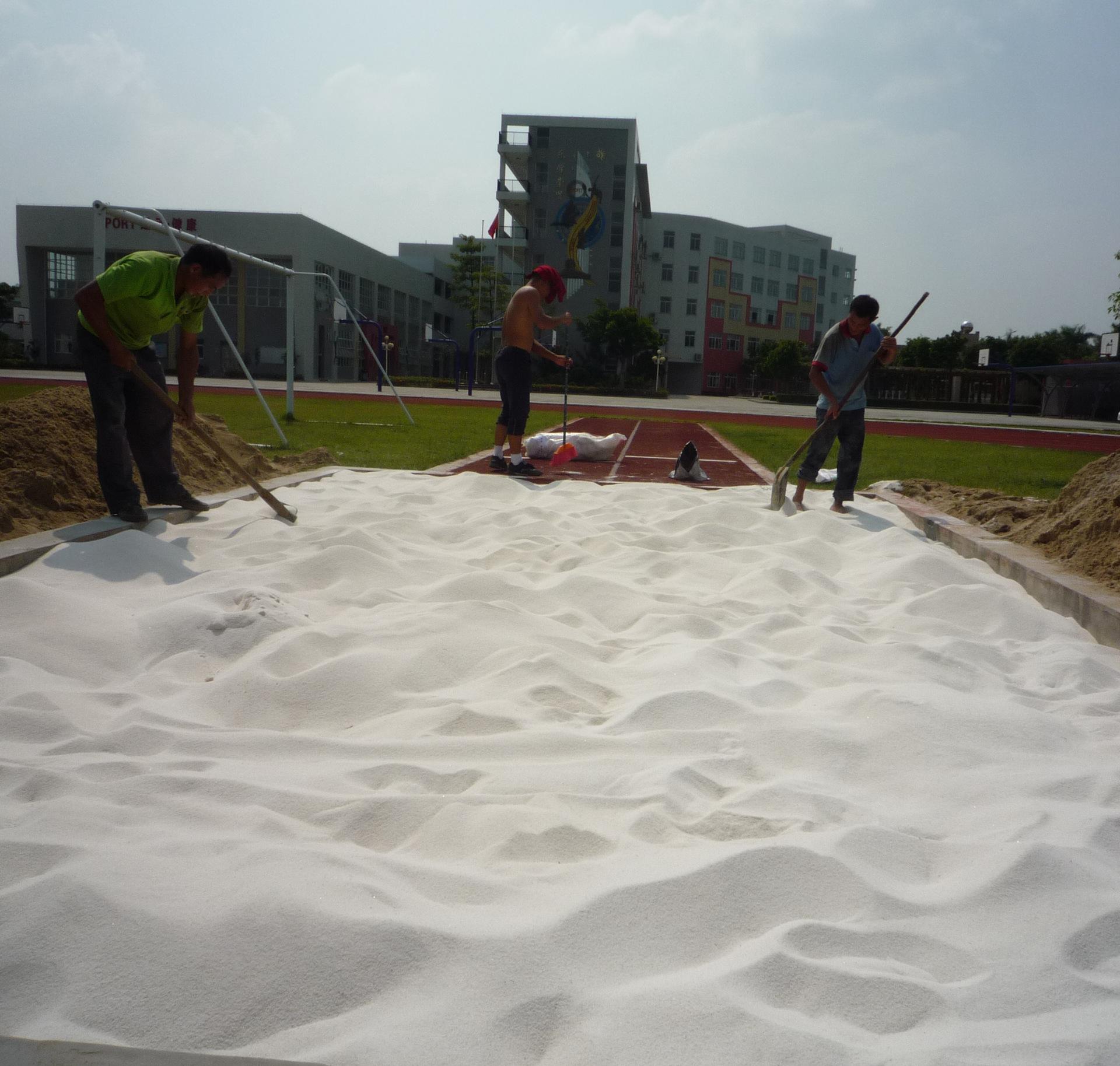 特价直供跳远白沙学校操场专沙跳远沙坑圆粒沙子