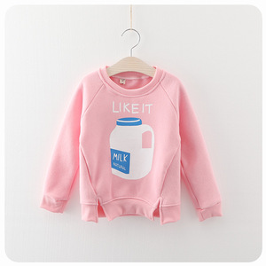 Korean girls and children cashmere sweater baby bottle thickened cartoon fashion casual jacket