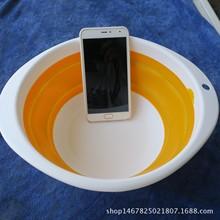 大號釣魚拉餌盤橡膠碗折疊餌料盆魚餌盆塑料碗拌餌盆 漁具