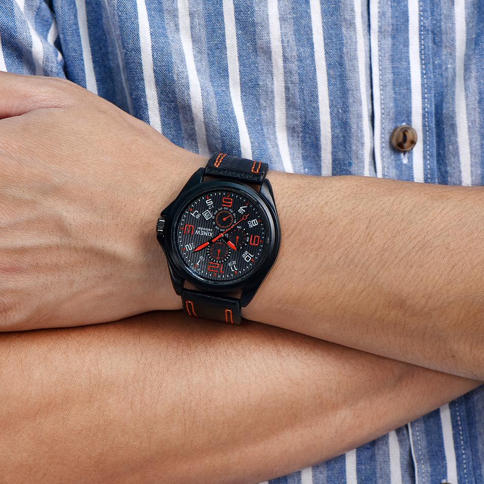 Mens Brand Watches Leather Calendar Sport Clock Gifts Watch