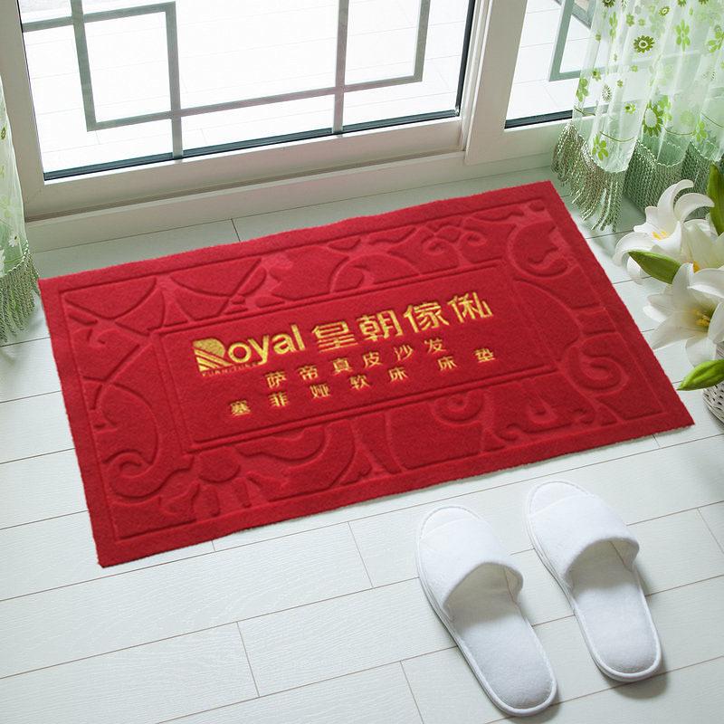 刺绣工艺广告地垫门垫脚踏垫可印企业logo或广告语作促销品赠品