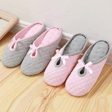Mùa xuân và mùa hè phụ nữ mang thai dép mùa xuân cotton thoáng khí nhà giày mềm đáy nhà trong nhà giày bà bầu giày ngồi Dép vải