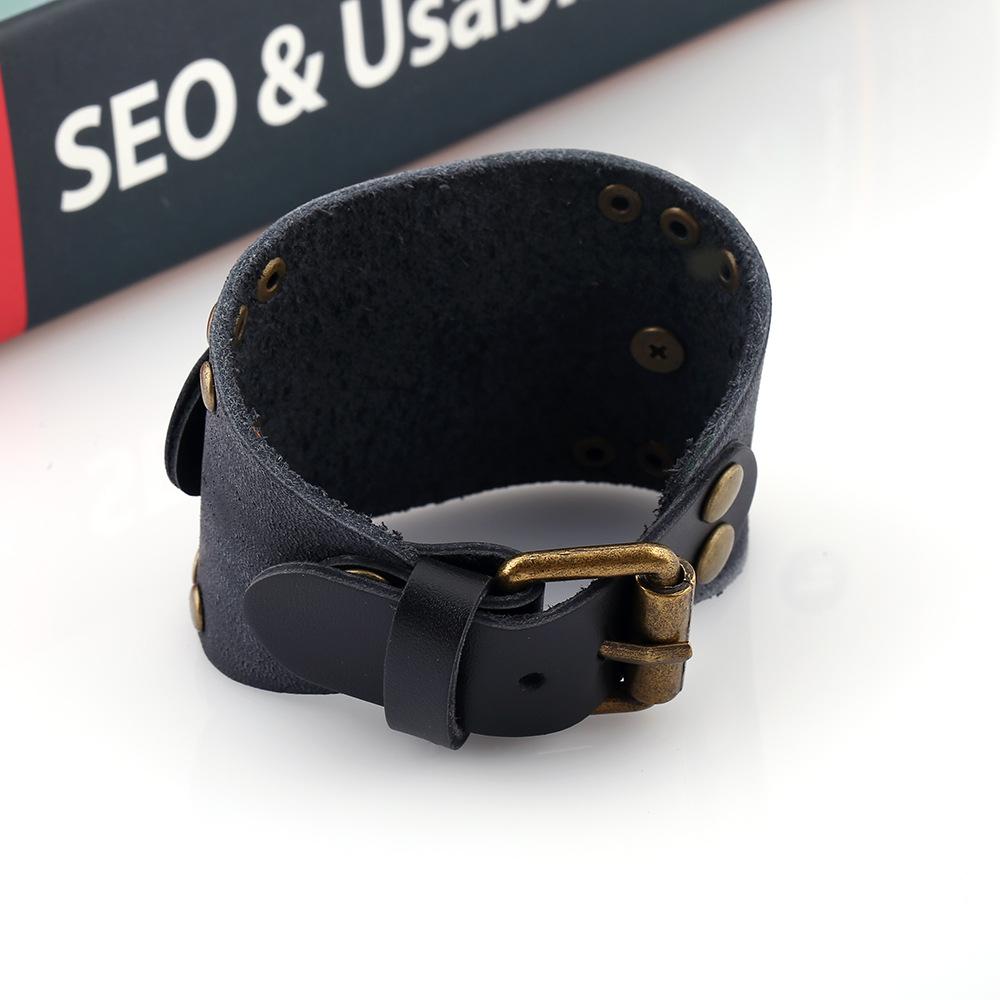 Mens Geometric Vintage Leather Bracelets & Bangles NHPK124937