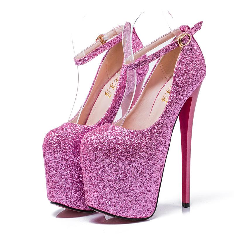 高细跟19cm恨天高性感夜店女鞋40-43大码一件代发44-50码伪娘鞋