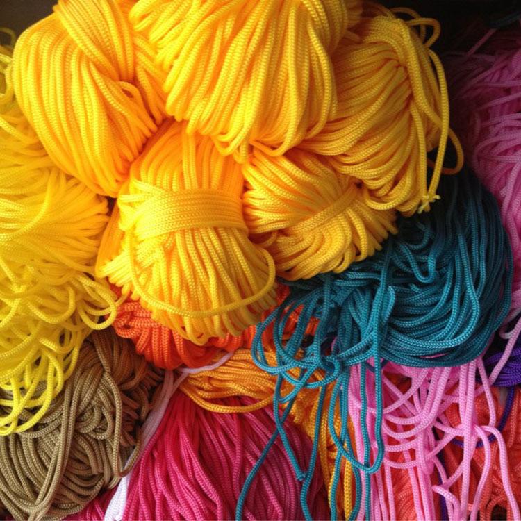 厂家现货彩色丙纶绳手工编织PP绳 束口抽绳 切割打头包芯手提绳子