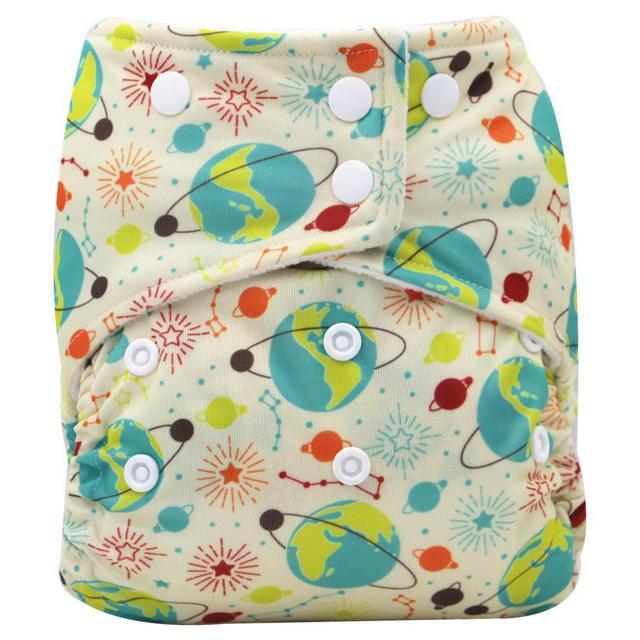 外贸单贴数码印花婴儿可洗防漏布尿裤 透气均码可调节尿不湿