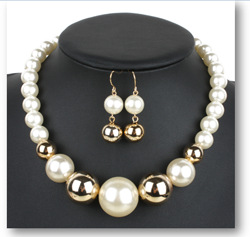Occident and the United States pearlnecklace (creamy-white)NHCT0044-creamy-white