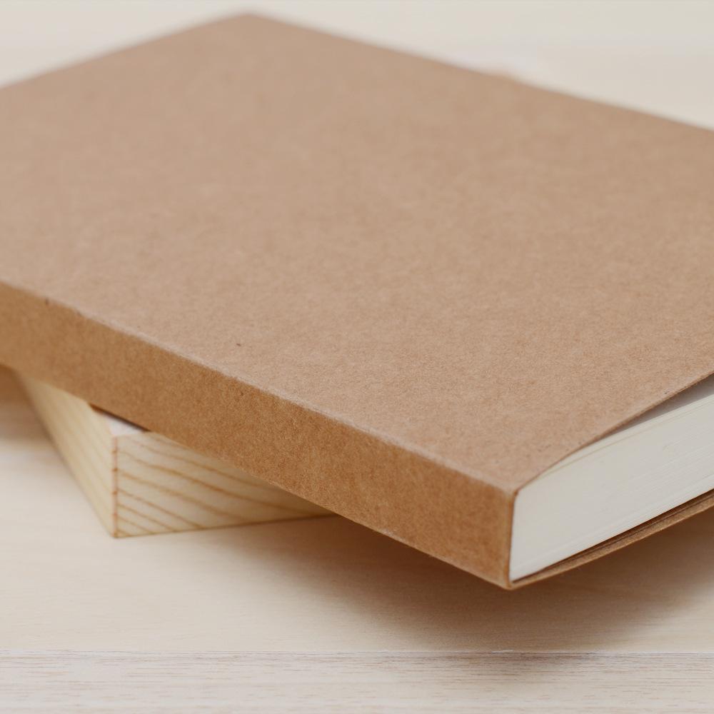 复古牛皮纸手绘本 裸装笔记本 复古纯色素描绘画笔记本定制logo