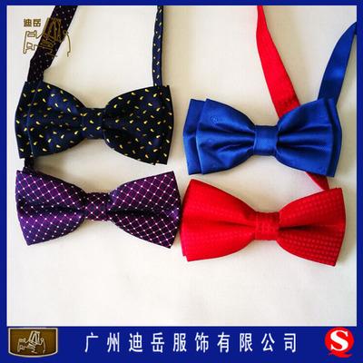 广州领结加工厂提花涤纶领结订做成人领结订做色织提花领结