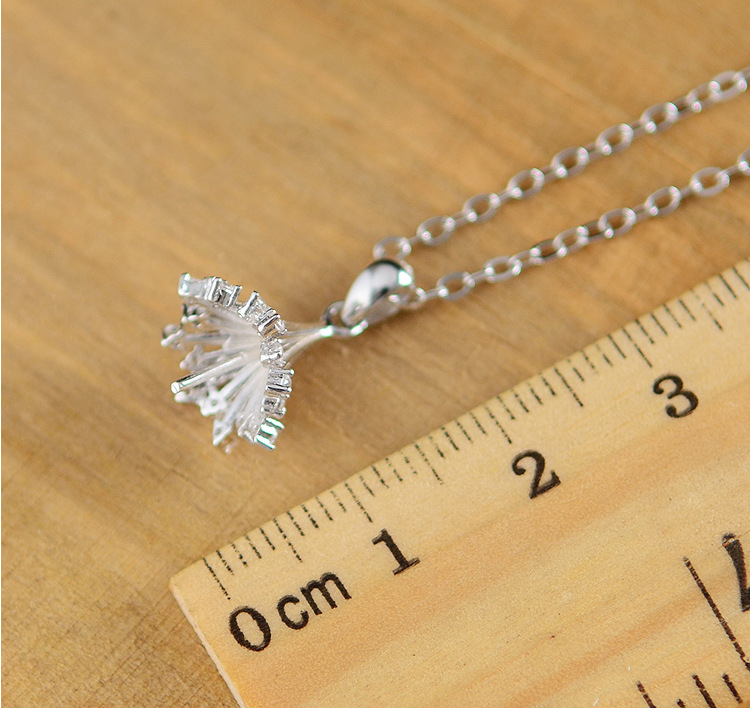 Silver Korea Flowers necklace(Empty tray pendant) NHDY0061-Empty tray pendant