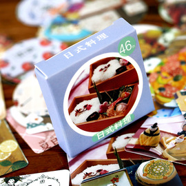 Japanese food boxed stickers stickers DIY hand account stickers 46 pieces into