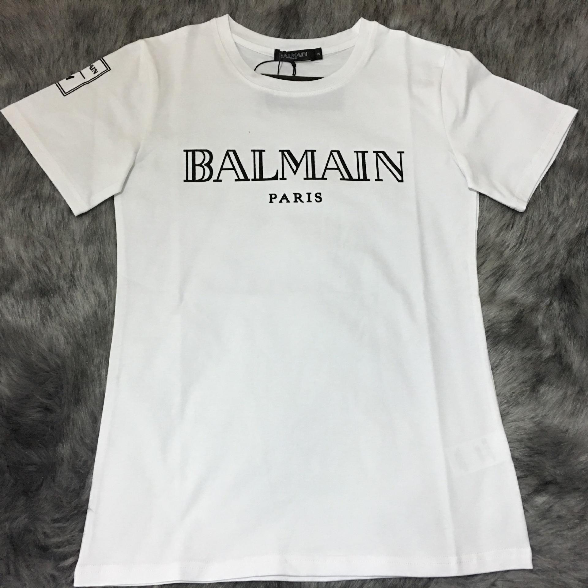 2016 new mens balmain cotton t shirt printed gold letter balmain paris xs xxl the following t. Black Bedroom Furniture Sets. Home Design Ideas