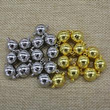 金鵬程 百搭項鏈光面球形磁鐵扣 diy飾品配件磁鐵扣 熱銷磁鐵扣