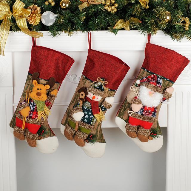 圣诞节装饰品 墙壁挂件老人雪人鹿礼物袋送女友礼品场景布置道具