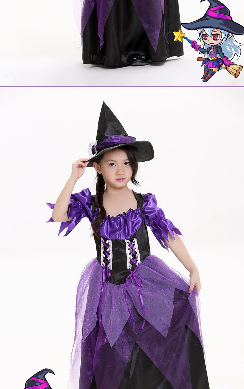 Halloween children cosplay witch stage costume NHFE155204