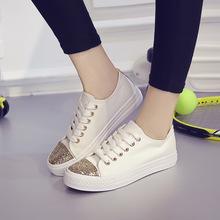 2018春夏季新款透气小白鞋帆布鞋女休闲运动鞋女学生板鞋跑步单鞋