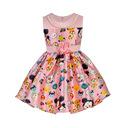 Đầm bé gái thời trang, in họa tiết nổi bật, kiểu dáng tự tin
