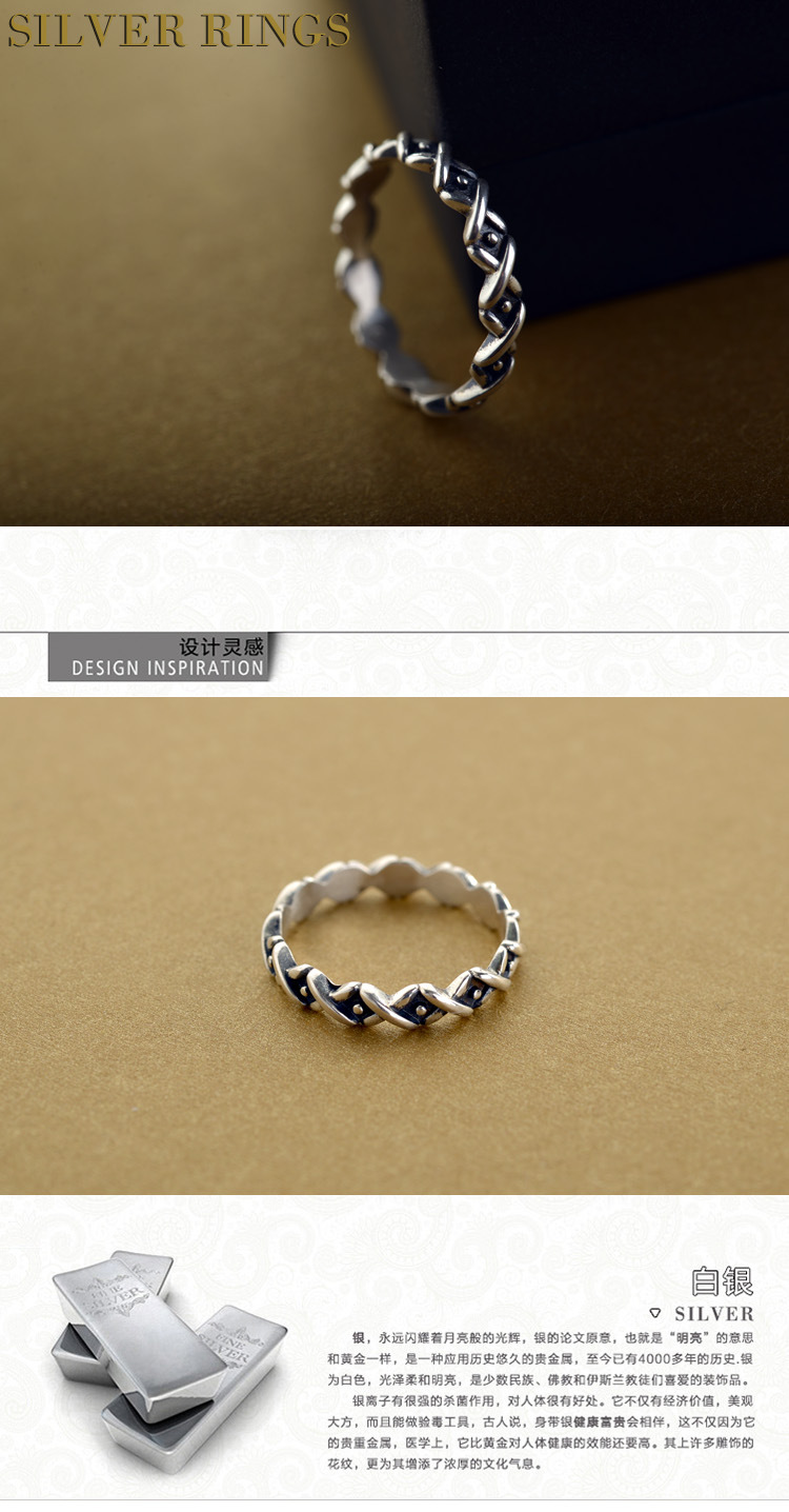 Korea style silver plating Ring (Silver -19)NHLJ3378-Silver -19