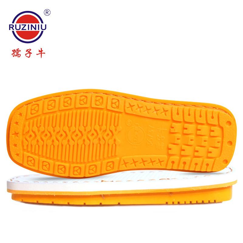 孺?#20248;?#21378;家直销 手工上线防滑耐磨实心牛筋棉鞋单色防水纳米鞋底