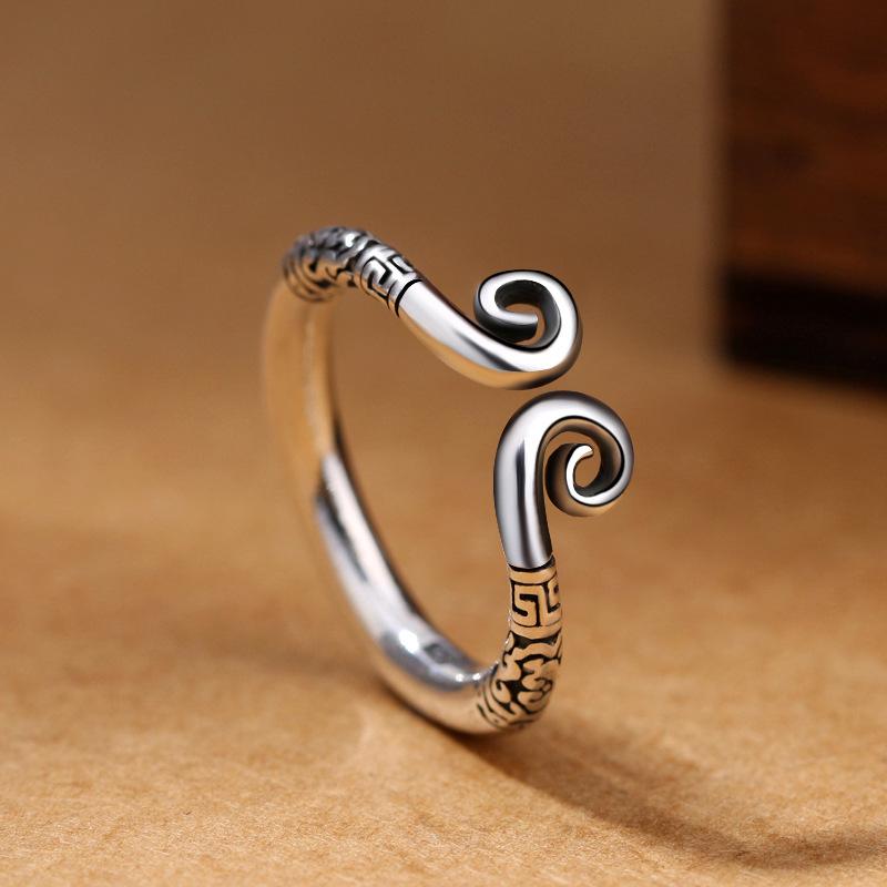 情侣对戒爱你一万年大话西游戒指男女复古开口饰品紧箍咒戒指批发