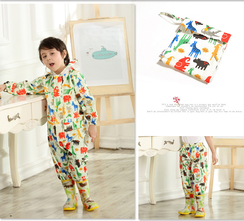 Little Kids' Cartoon Rain pants for Boys and Girls —— Pink,Blue,Yellow 16