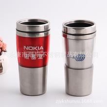 高底汽車杯 便攜防漏創意水杯 塑料汽車杯 雙層廣告杯 簡約旅行杯