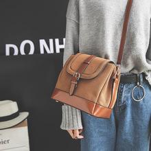 女包2016韩版时尚磨砂小方包秋冬新款皮带扣单肩斜跨包包一件代发