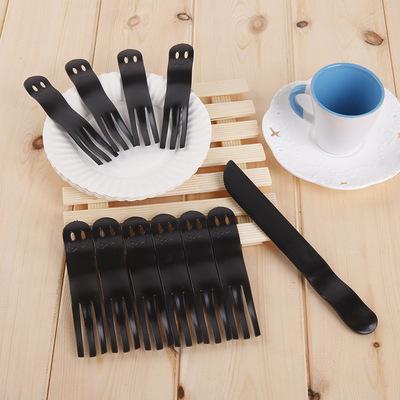 21客刀叉同款蛋糕刀叉盘套装 生日蛋糕刀叉盘组合一次性纸盘 袋装