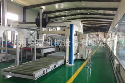 玻镁板真空吸盘自动上料机、水泥板玻镁板表面自动覆复合生产线