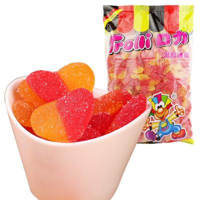 酸桃心形橡皮糖 德国Trolli口力qq水果软糖可爱糖果散称3公斤 喜