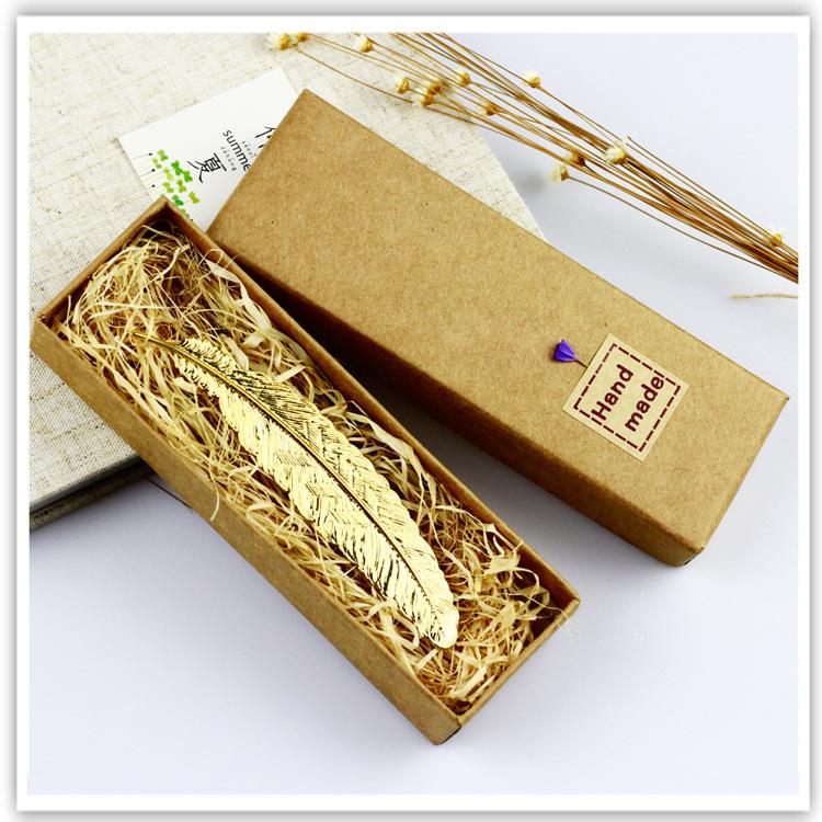 《羽翎》中国风金属黄铜创意羽毛书签精美复古典盒装古风简约立体
