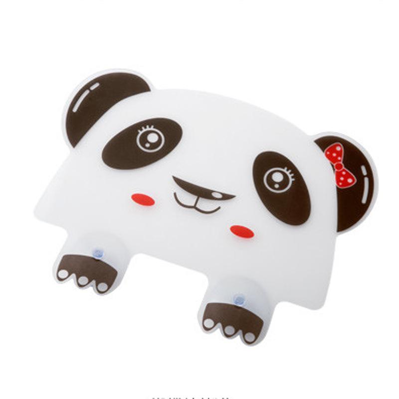 厨房用品可爱熊猫小熊水槽防溅水挡板水池隔水板带吸盘挡水板50g