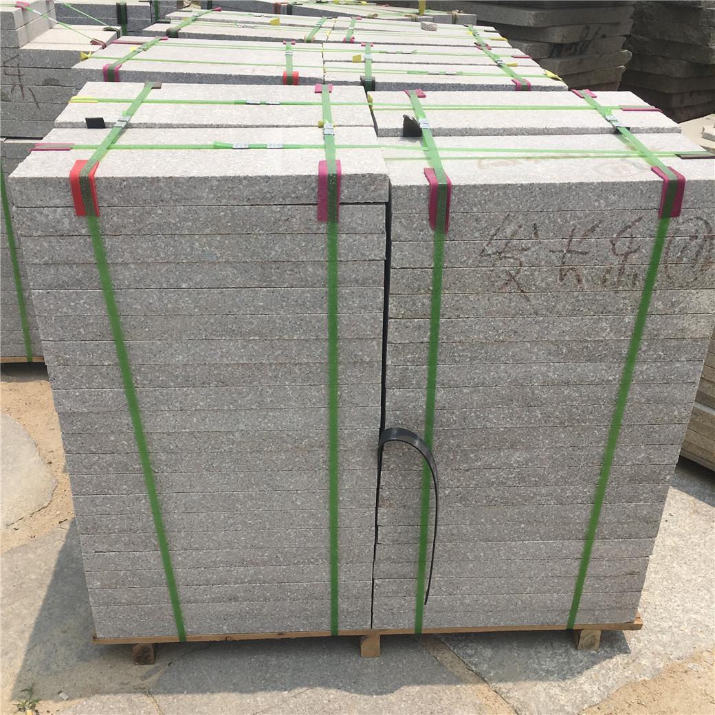 加工虾红G681花岗岩600*300*50厚火烧荔枝面园林广场地板石材地砖