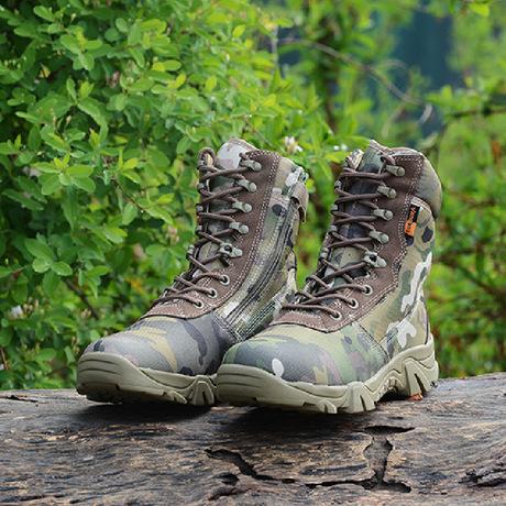 户外装备夏季军靴高帮军靴男特种兵透气战术靴作战靴07特种陆战靴