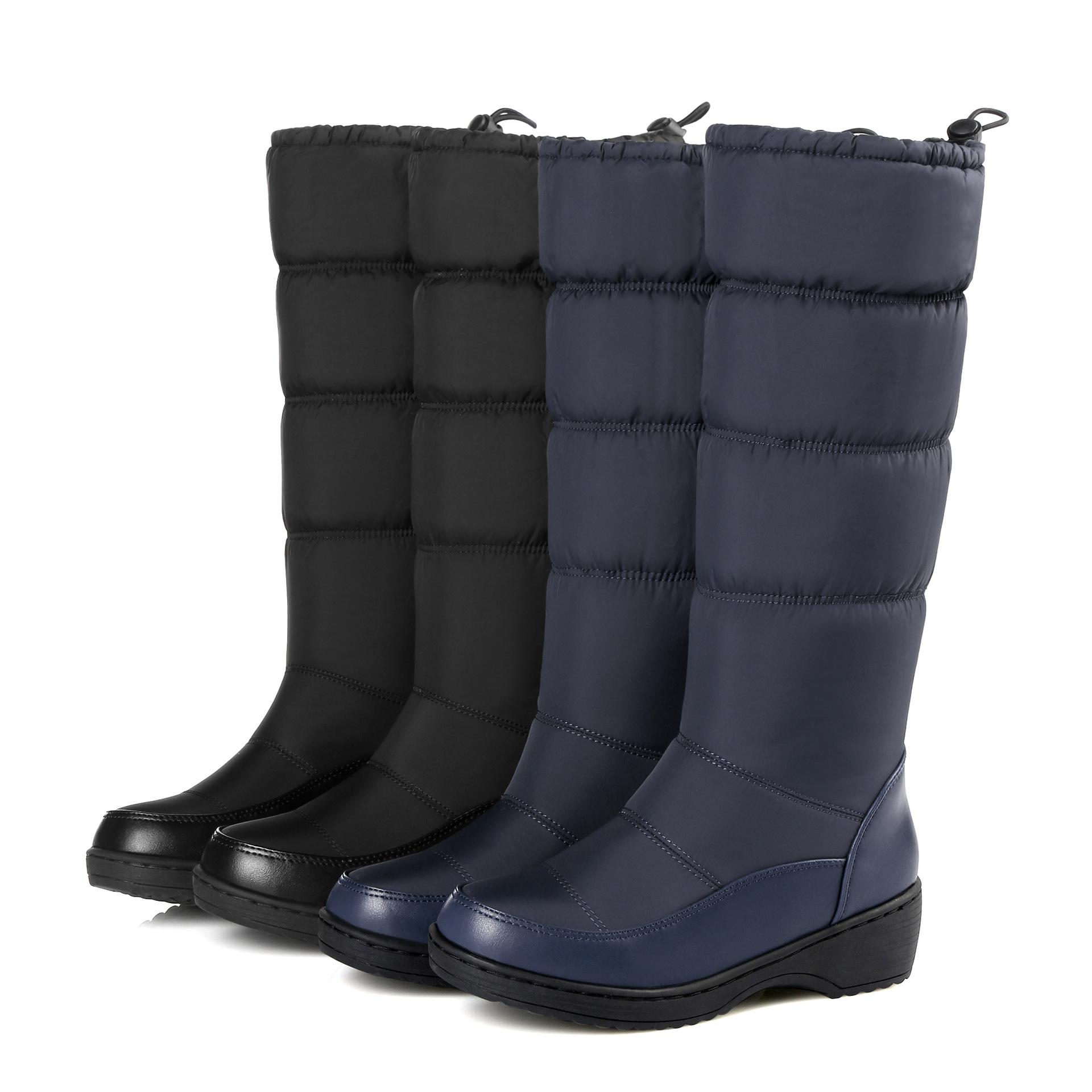 冬季女鞋防滑保暖短靴白棉鞋加绒加厚棉靴厚底松糕中筒雪地靴女靴