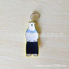 pvc軟膠鑰匙扣 北極熊滴膠鎖匙扣 宣傳動物公益廣告鑰匙扣