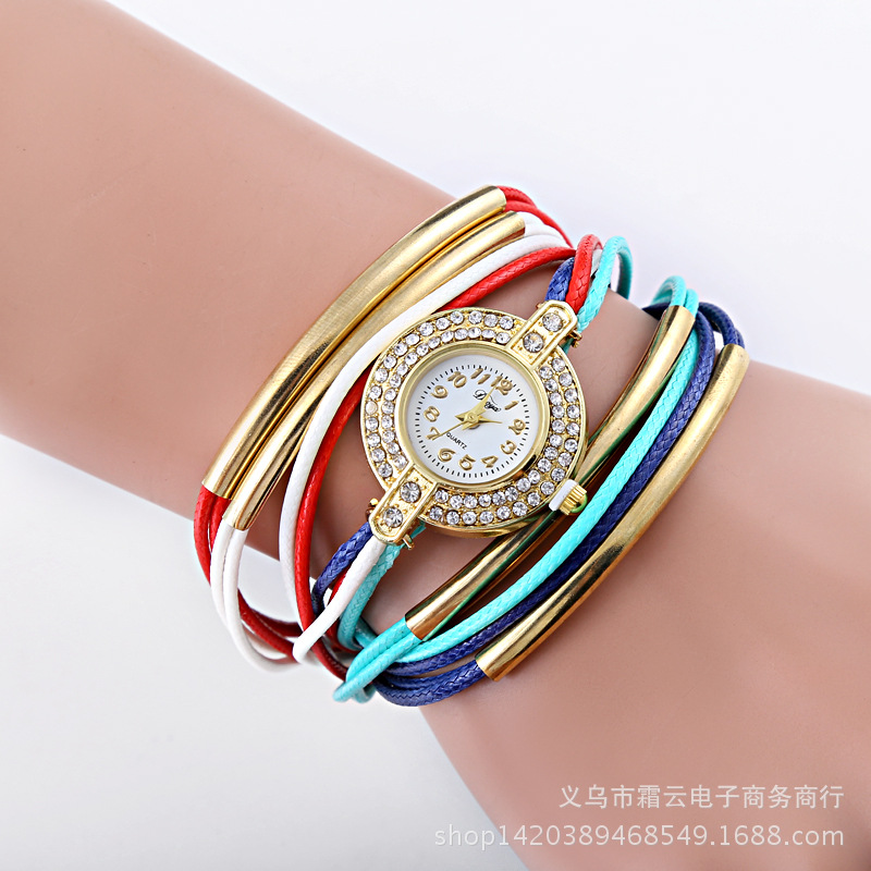 Leisure Ordinary glass mirror alloy watch (Pink) NHSY0618