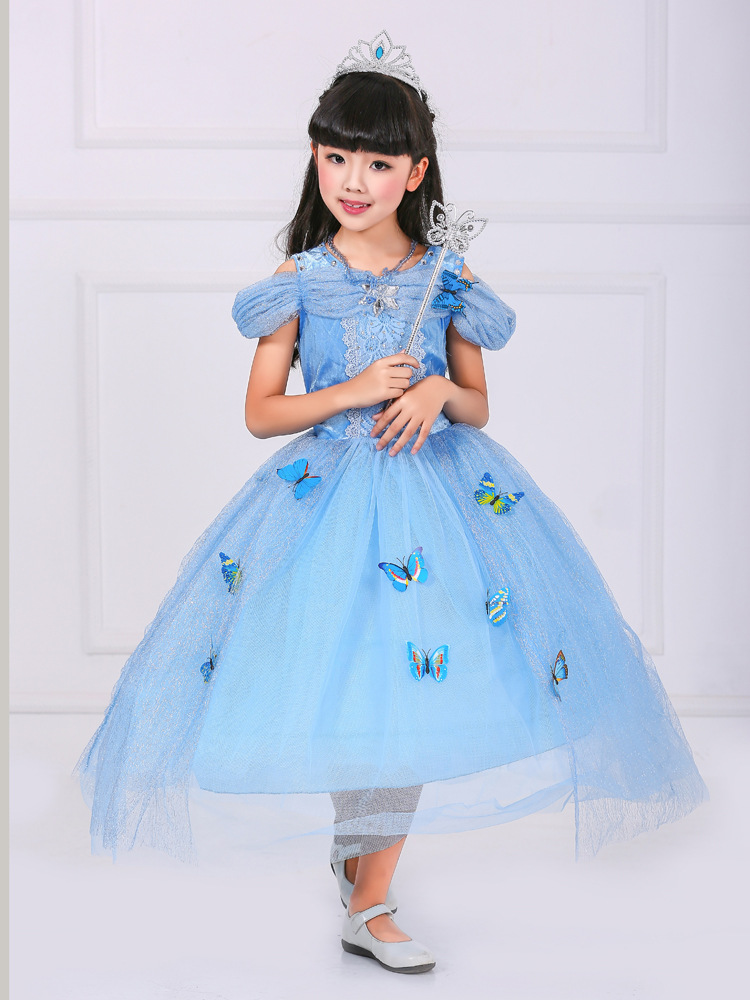 2019 Free Gift Newest Movies Cinderella Dresses Princess Dress For