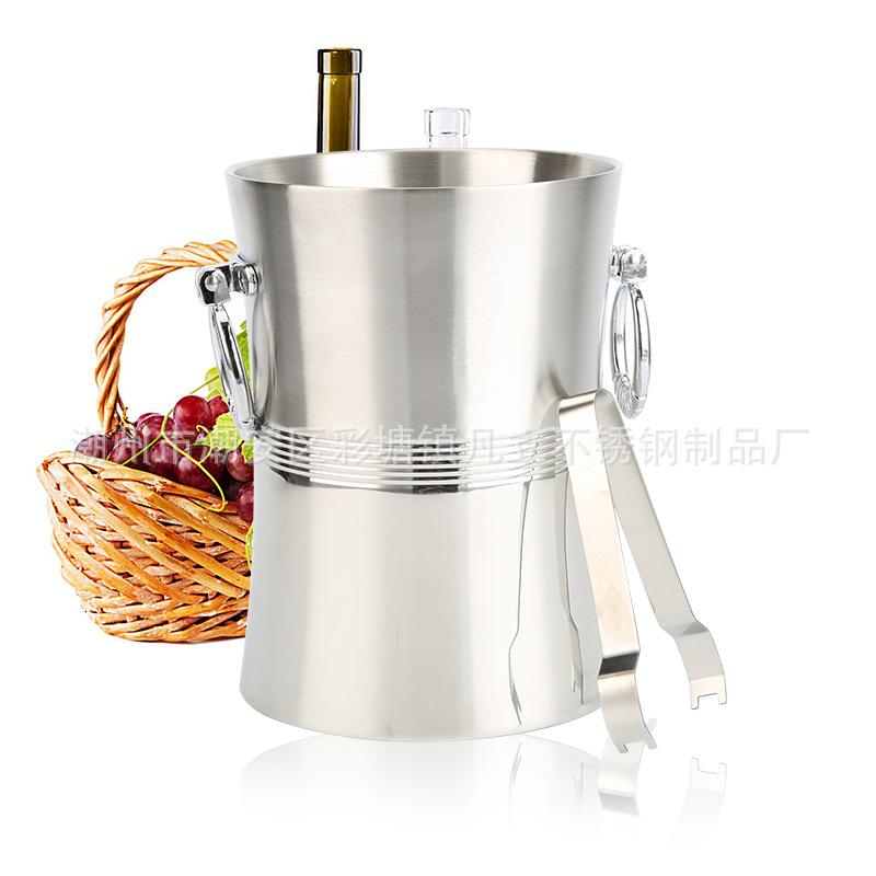 厂家供应不锈钢高档红酒桶 酒吧KTV 香槟桶 双层冰粒桶