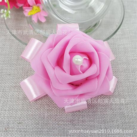 Hoa cưới cổ tay cô dâu cô dâu cổ tay hoa Hàn Quốc PE bọt cổ tay hoa cô gái tay hoa hoa cổ tay