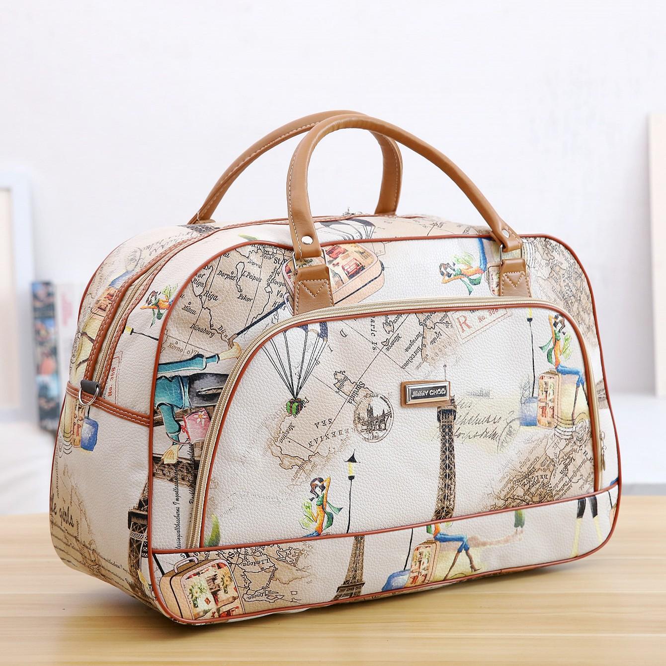 厂家直销手提旅行包行李袋PU礼品包大小包防水短期旅游单肩包