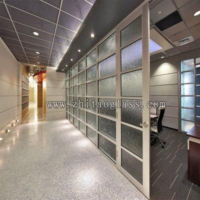 厂家直销12厘白玻钢化 热熔玻璃 办公室隔断屏风