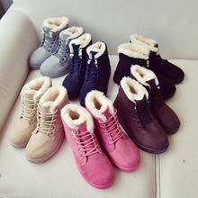 跨境专供秋冬新款马丁靴女棉靴加绒保暖短靴铆钉靴子女boots2019