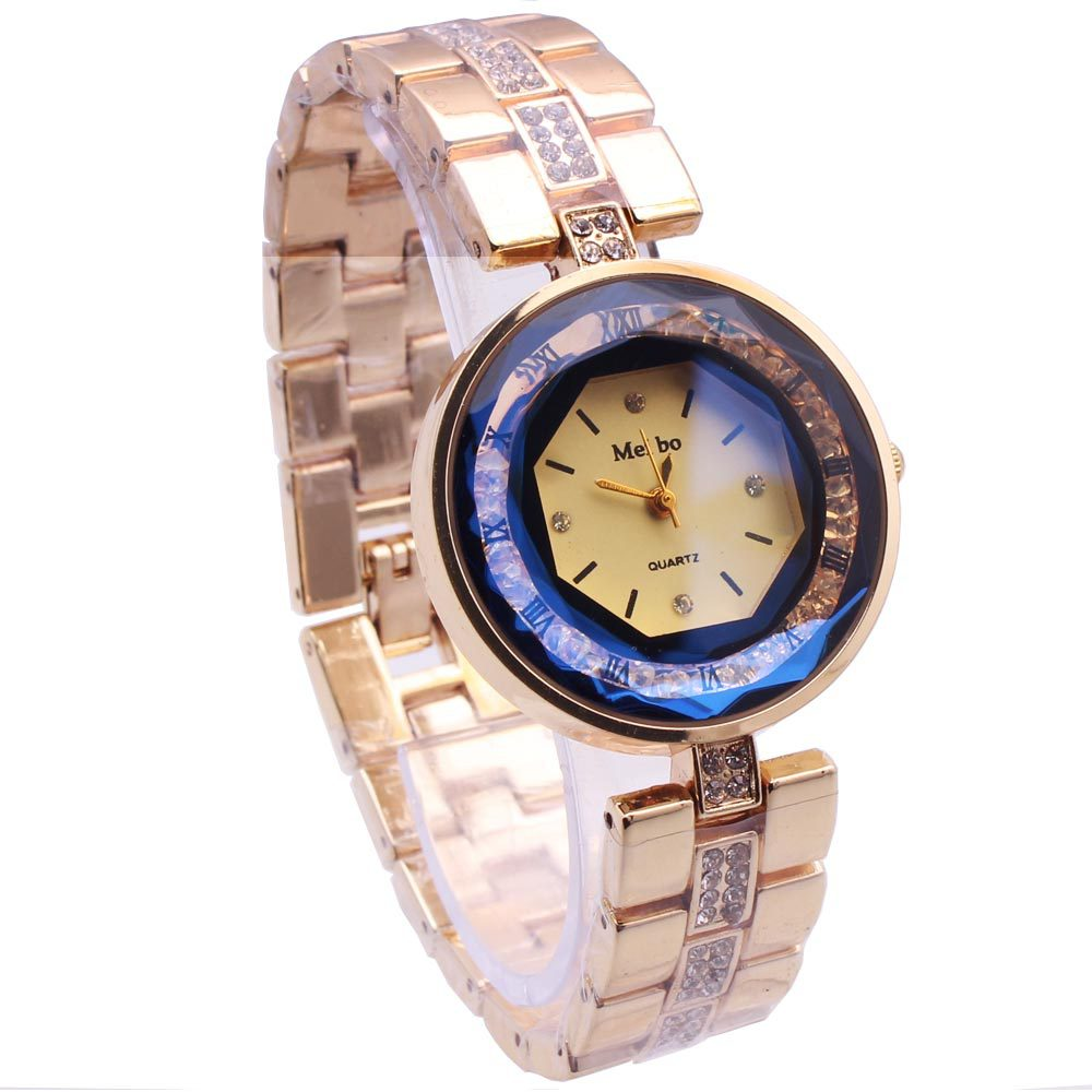 fashion Plexiglass mirrorLadies watch (1-gold)NHMM2098-1-gold