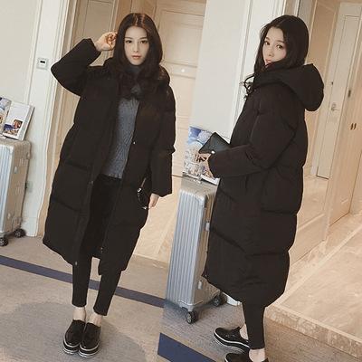 韩版棉服女冬季外套棉袄学生大码过膝韩国面包服情侣棉衣女中长款