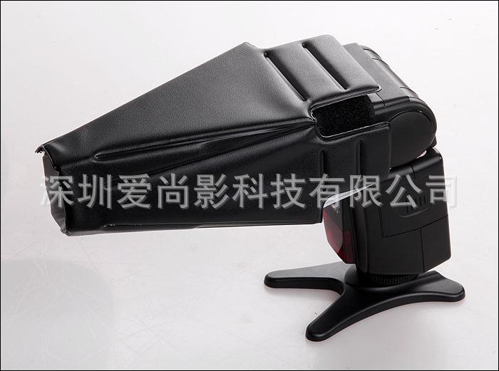 闪光灯束光筒 热靴灯聚光筒 通用魔术贴式 柔光罩 束光罩