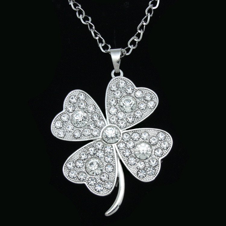 Womens Floral Electroplating Alloy Necklaces NHAS120894