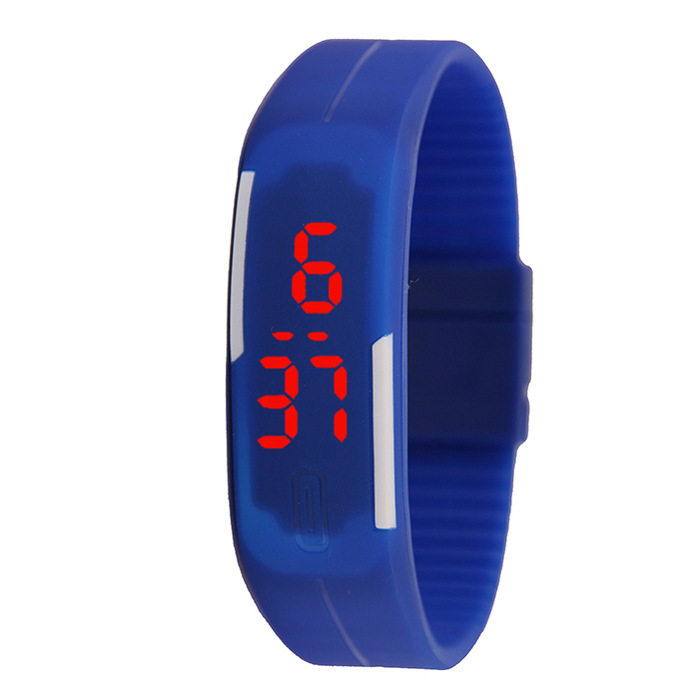 Thin band LED bracelet watch fashion touch electronic student gift watch black one size 17