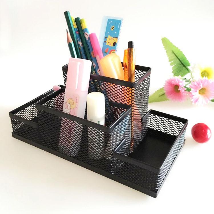 办公学习用品文具 桌面金属创意笔筒时尚多功能组合笔桶铁艺笔筒