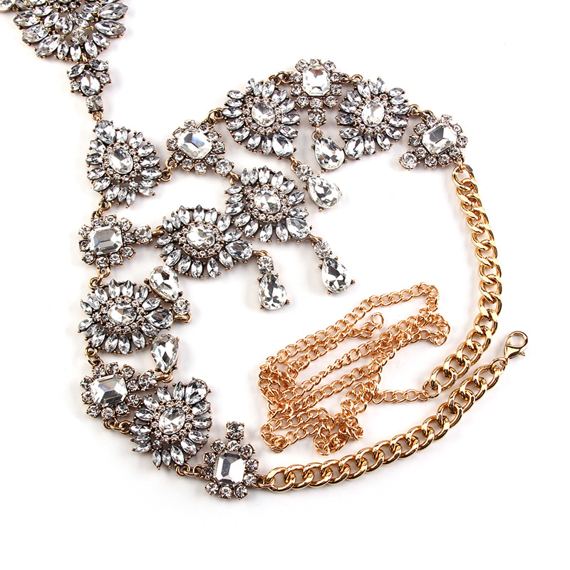 Occident alloy Geometric necklace ( Photo Color ) NHJQ4174